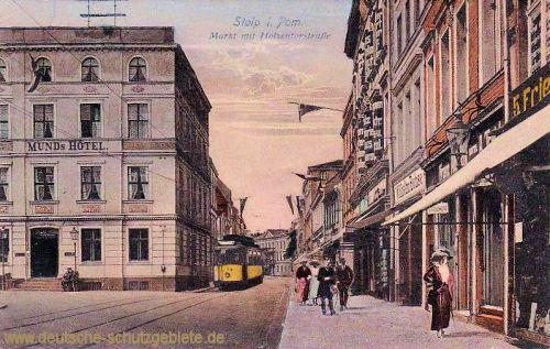 Stolp, Markt mit Holzentorstraße