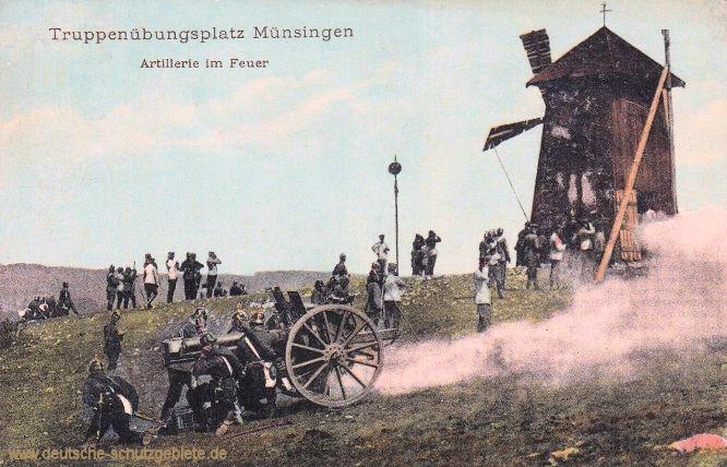 Truppenübungsplatz Müsingen, Artillerie im Feuer