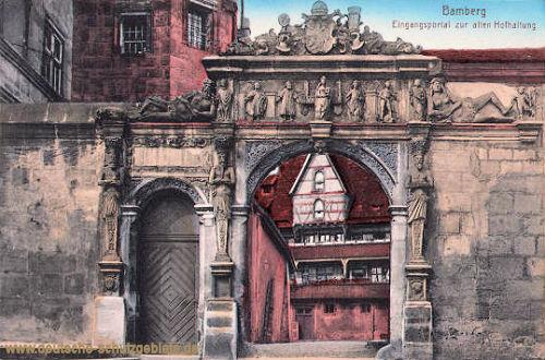 Bamberg, Eingangsportal zur alten Hofhaltung