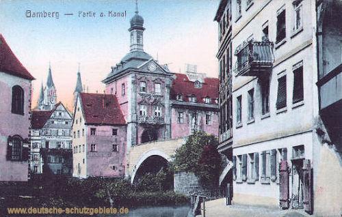 Bamberg, Partie am Kanal