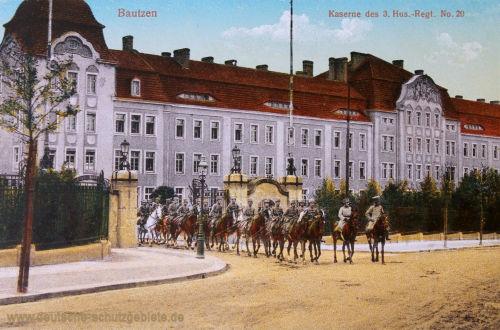 Bautzen, Kaserne des 3. Husaren-Regiments No. 20