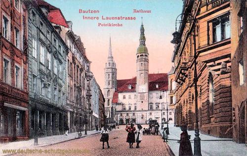 Bautzen, Rathaus, Innere Lauenstraße, Petriekirche