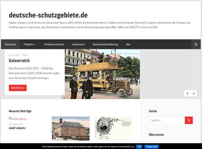 deutsche-schutzgebiete.de im Jahr 2018 (Screenshot archive.org)