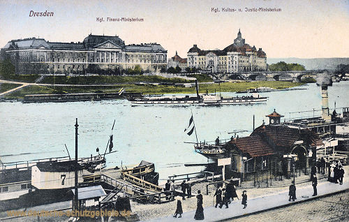 Dresden, Königliches Finanz-Ministerium, Königliches Kultus- und Justiz-Ministerium