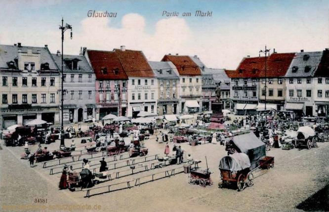 Glauchau, Partie am Markt