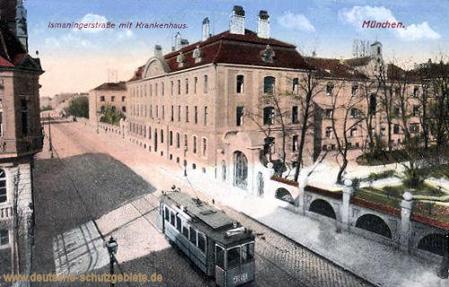 München, Ismaningerstraße mit Krankenhaus