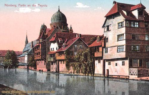 Nürnberg, Partie an der Pegnitz (Synagoge)