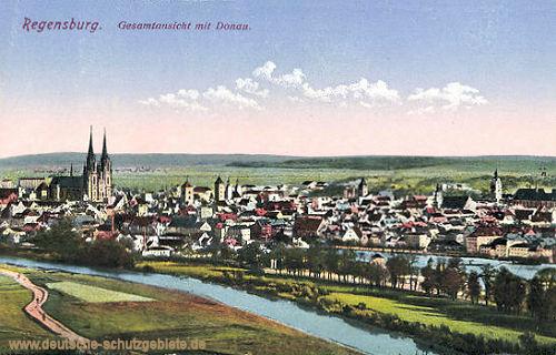 Regensburg, Gesamtansicht mit Donau