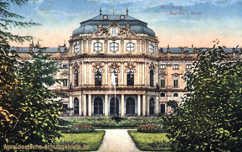 Würzburg, Residenz und Garten