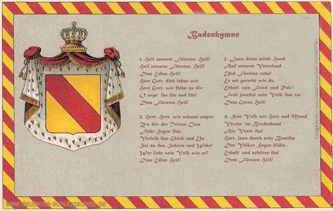Badenhymne, Heil unserm Fürsten, Heil!