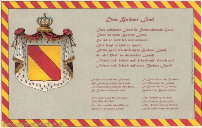Badnerlied, Das schönste Land in Deutschlands Gaun