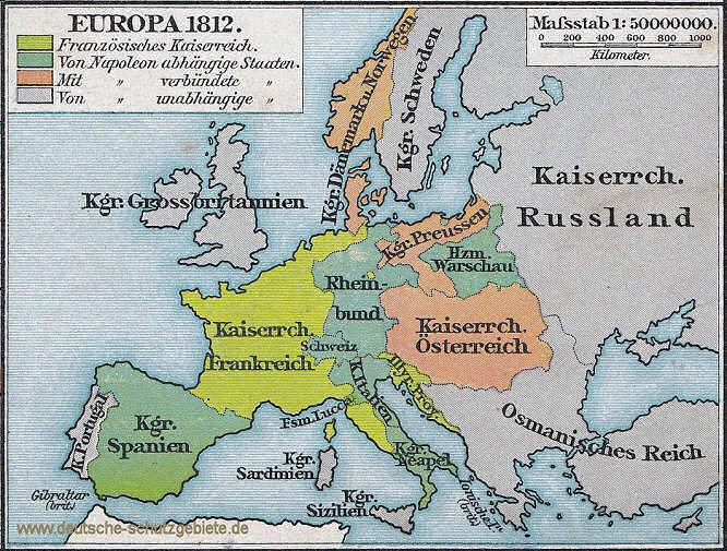 Europa, 1812