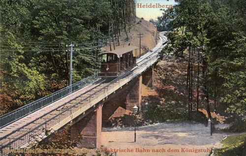 Heidelberg, Elektrische Bahn nach dem Königstuhl