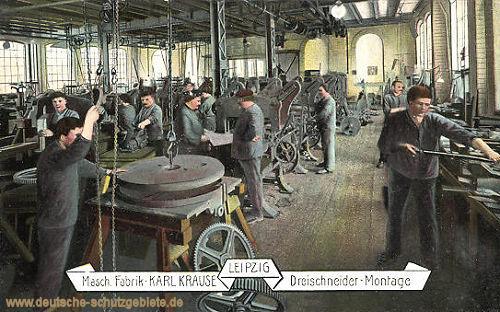 Leipzig, Maschinen Fabrik Karl Krause, Dreischneider-Montage