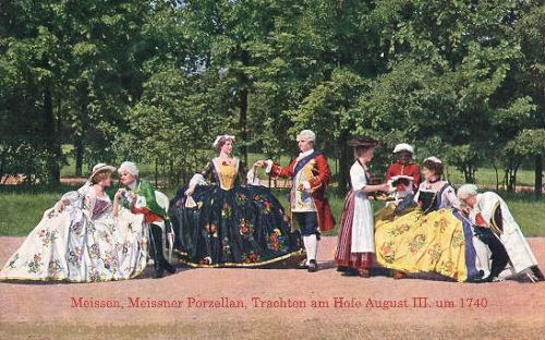 Meißen, Meißner Porzellan, Trachten am Hofe August III. um 1740