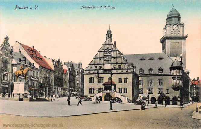 Plauen i. V., Altmarkt mit Rathaus