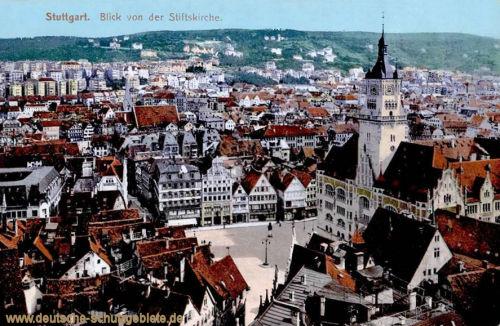 Stuttgart, Blick von der Stiftskirche