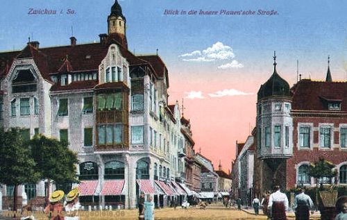 Zwickau i. S., Blick in die Innere Pauen'sche Straße