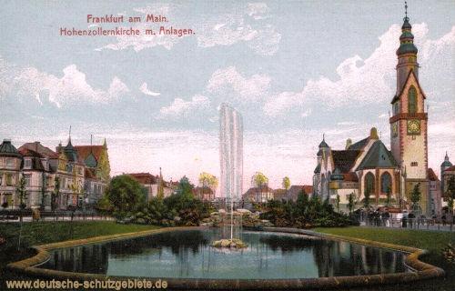Frankfurt a. M., Hohenzollernkirche mit Anlagen