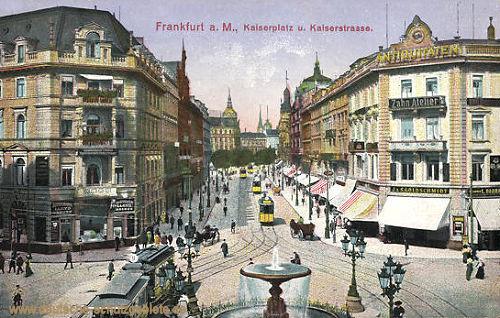 Frankfurt a. M., Kaiserplatz und Kaiserstraße
