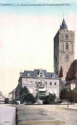 Frankfurt a. O., Große Scharnstraße und Regierungsstraße-Ecke