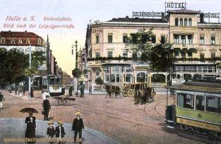 Halle. a. d. S., Riebeckplatz, Blick nach der Leipzigerstraße