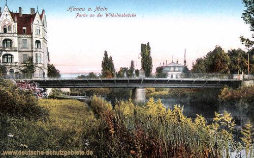 Hanau, Partie an der Wilhelmsbrücke
