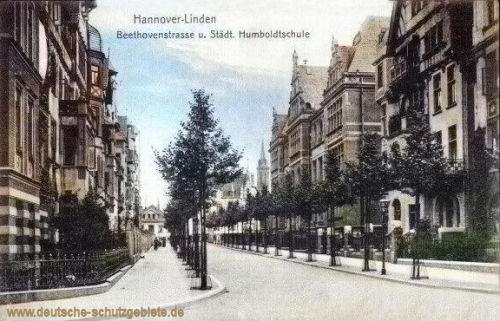 Linden, Beethovenstraße und Städtische Humboldtschule