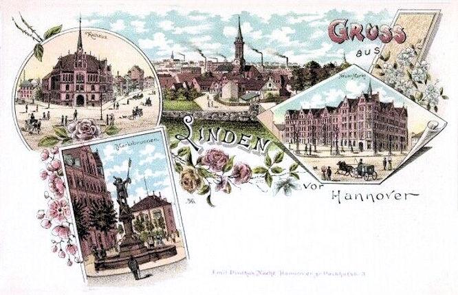 Linden vor Hannover, Rathaus, Neuer Markt, Marktbrunnen