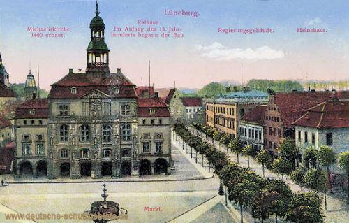 Lüneburg, Michaeliskirche, Markt, Rathaus, Regierungsgebäude, Heinehaus
