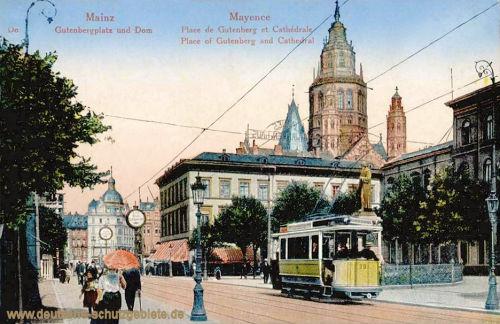 Mainz, Gutenbergplatz und Dom