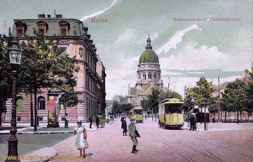 Mainz, Kaiserstraße und Christuskirche