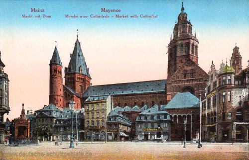 Mainz, Markt mit Dom