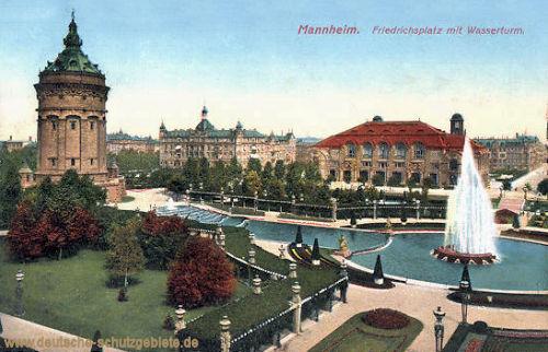 Mannheim, Friedrichsplatz mit Wasserturm