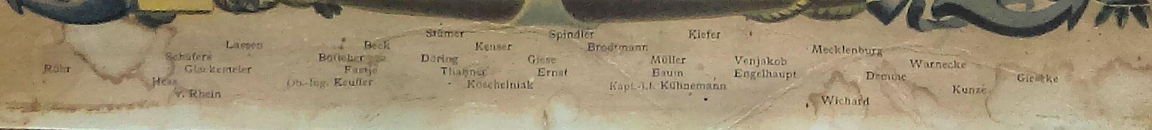 S.M.S. Hela, Namen der Besatzungsmitglieder