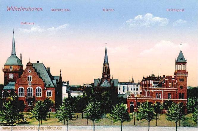 Wilhelmshaven, Marktplatz, Rathaus, Kirche, Reichspost