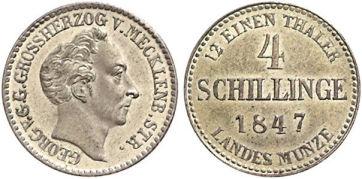 Großherzogtum Mecklenburg-Strelitz 4 Schillinge, 1847