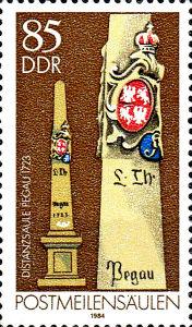 Postmeilensäulen, 85 Pfennig, DDR 1984