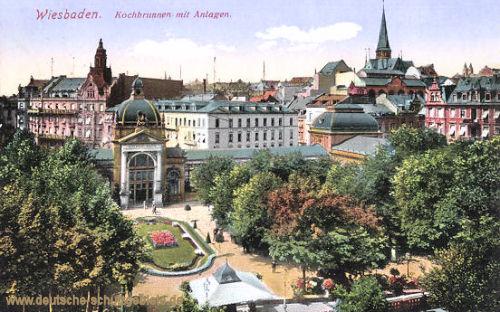 Wiesbaden, Kochbrunnen mit Anlagen