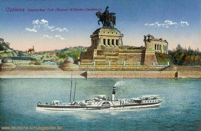 Coblenz, Deutsches Eck Kaiser Wilhelm-Denkmal