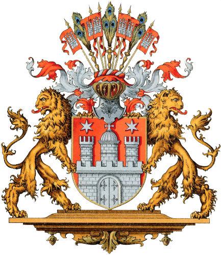 Freie und Hansestadt Hamburg, Großes Staatswappen