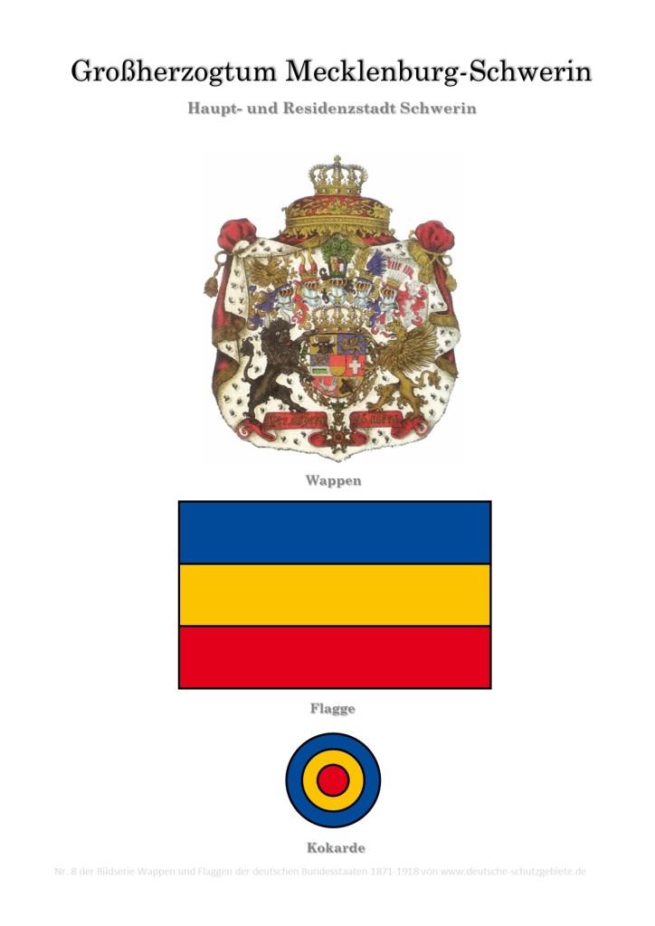 Großherzogtum Mecklenburg-Schwerin, Wappen, Flagge und Kokarde