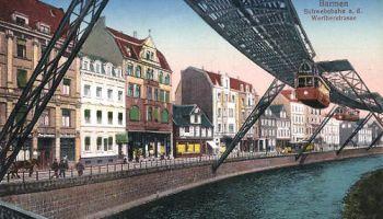 Barmen, Schwebebahn an der Wertherstraße