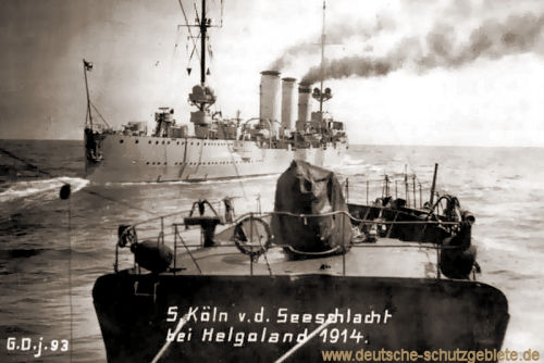 S.M.S. Köln v. d. Seeschlacht bei Helgoland 1914