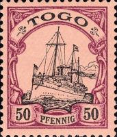 Togo Nr. 14, 50 Pfennig