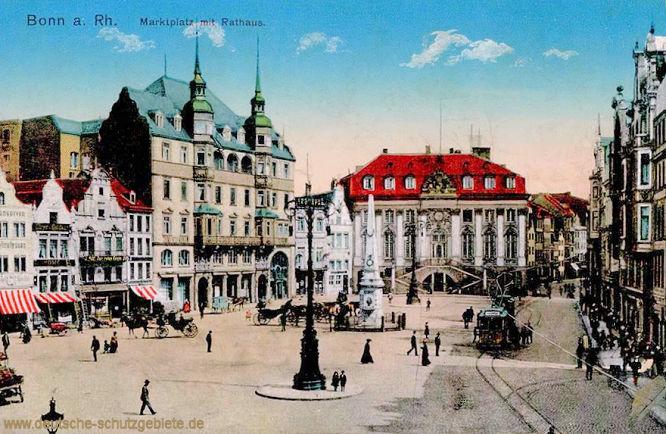 Bonn am Rhein, Marktplatz mit Rathaus