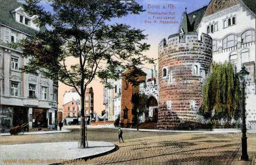 Bonn am Rhein, Rheinischer Hof und Franziskaner