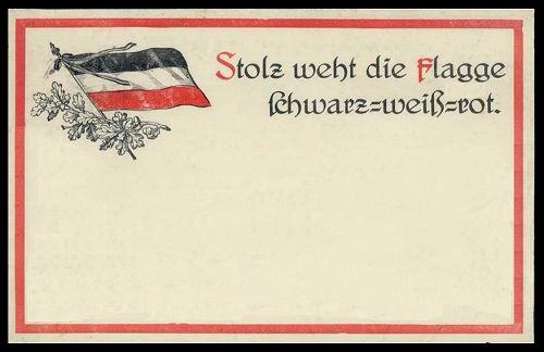 Stolz weht die Flagge schwarz-weiß-rot.