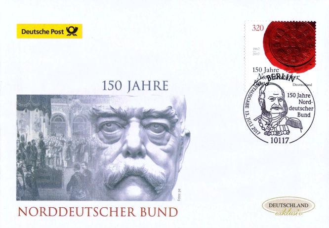 150 Jahre Norddeutscher Bund, Deutsche Post 2017