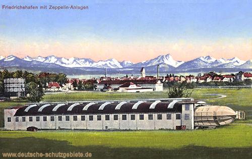 Friedrichshafen mit Zeppelin-Anlagen